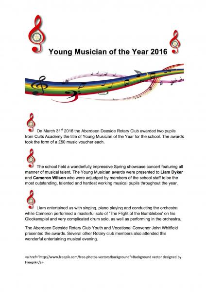 Young Musician 2016