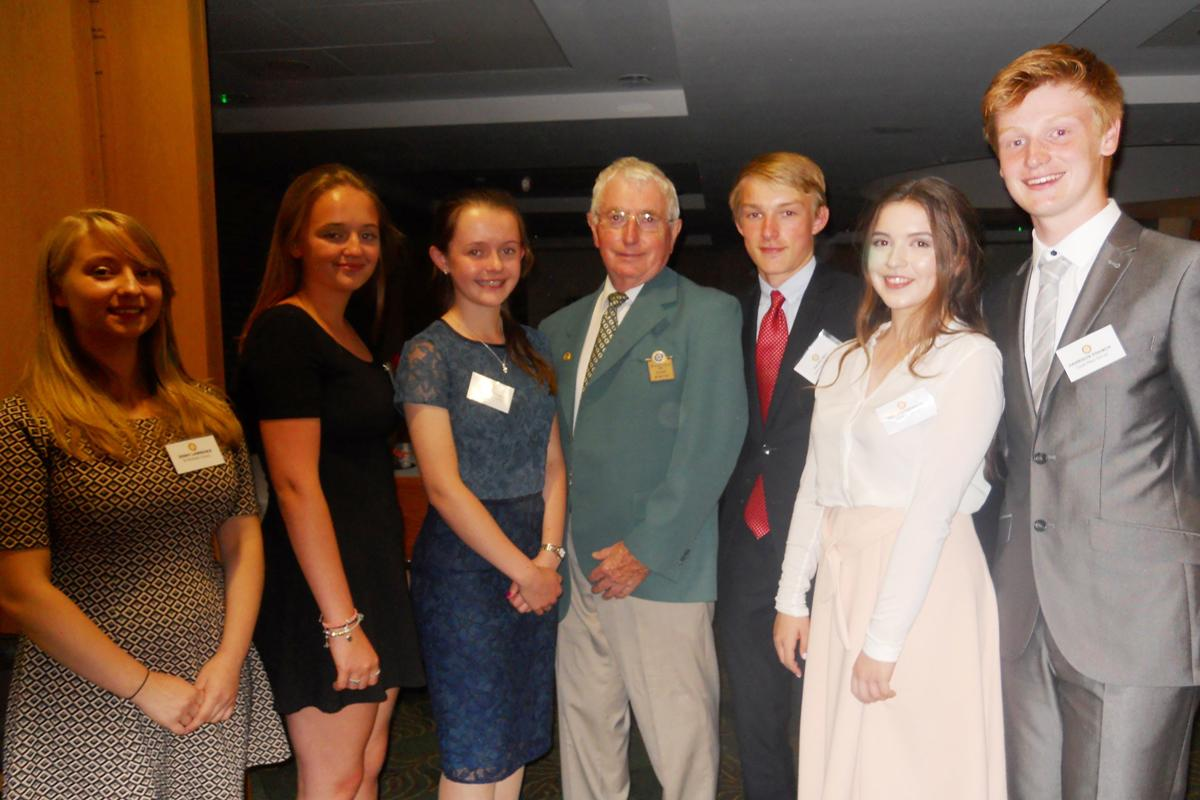 Fleet Rotary welcomes young people from Court Moor, Calthorpe Park and St Nicholas Schools