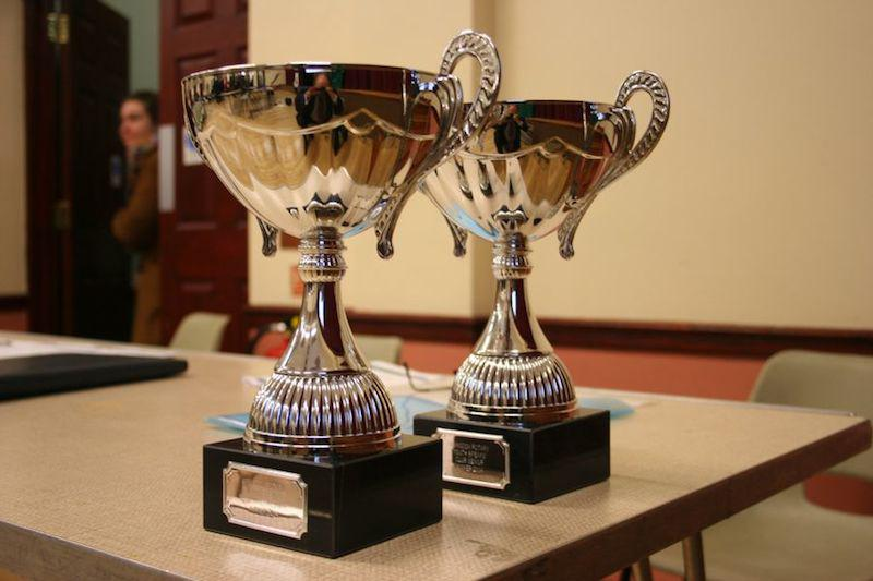 Two splendid cups commissioned for our Club's annual Youth Speaks competition.