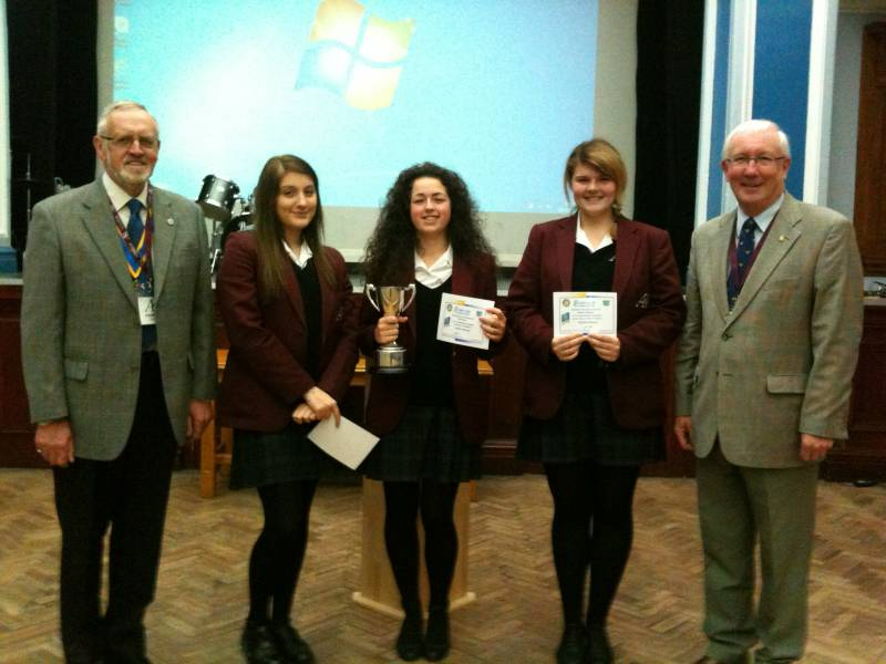 The winners of the Youth Speaks Competition - Arnold King Edwards School
