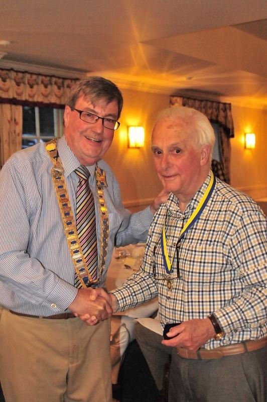 Presidents Night 2016 - Tony Bruce is presented with a Paul Harris Fellowship award