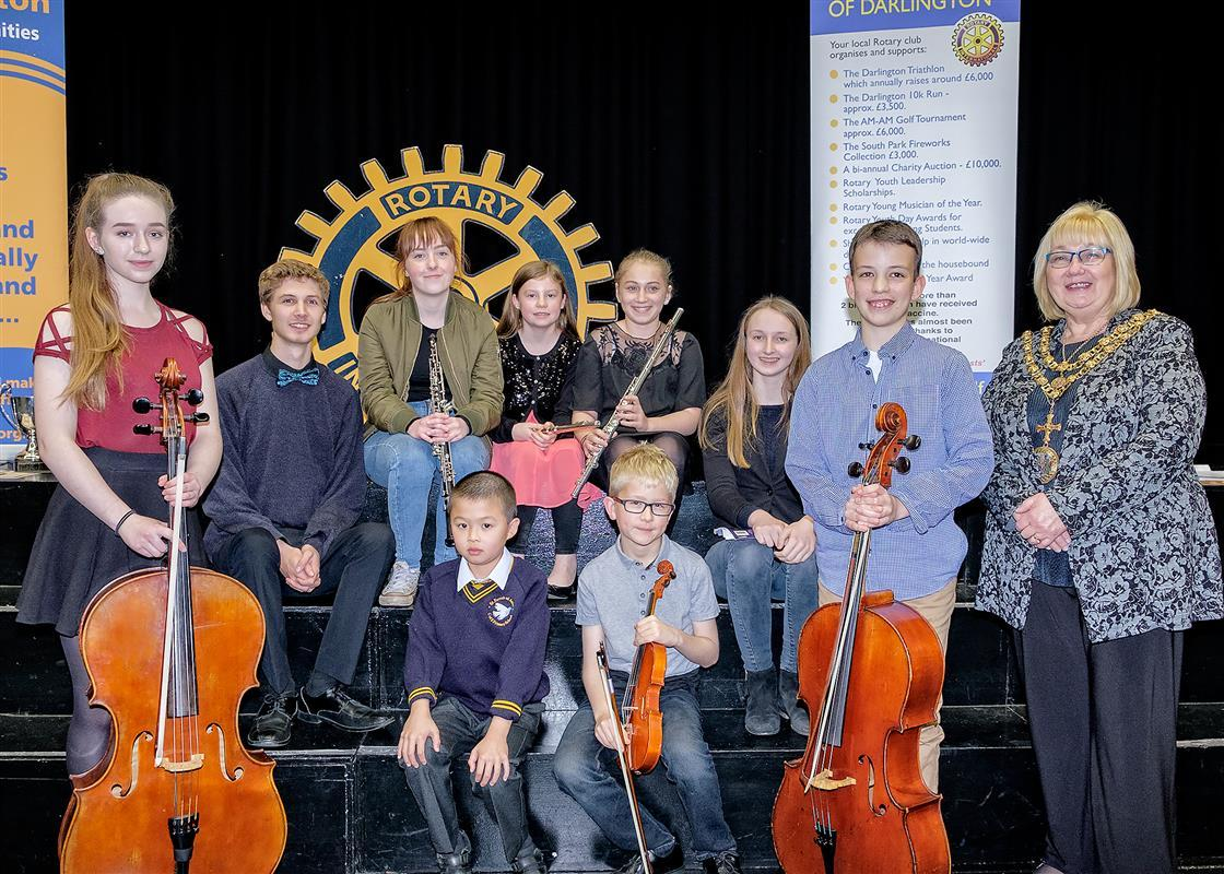 Finalists of Northallerton with Darlington Young Musician competition