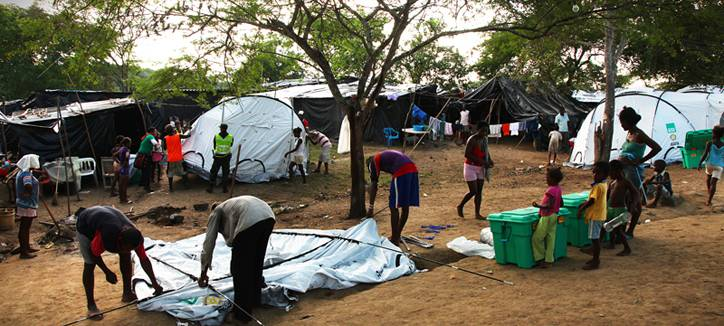 ShelterBox and the Tents they contain.