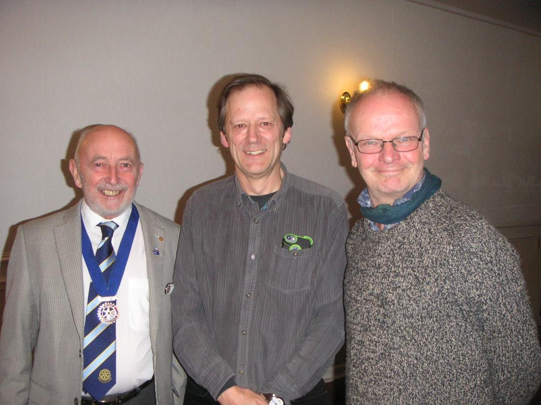 President Elect Colin with our speaker Colin Aldred and friend Peter Needham