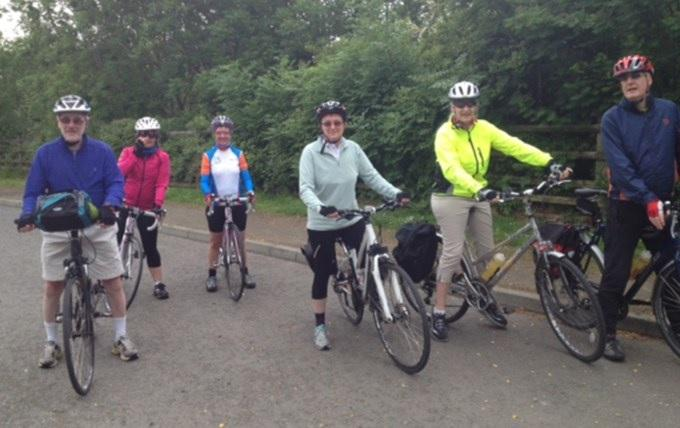Cyclists on Rotary Ride from Dunfermline to Alloa raising funds for ProstateScotland