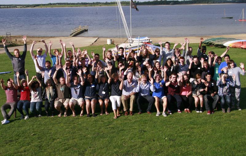Aug 2014 RYLA Week - Rotary Young Leaders Award Course - Grafham Water RYLA Group 2014 bursting with enthusiasm!