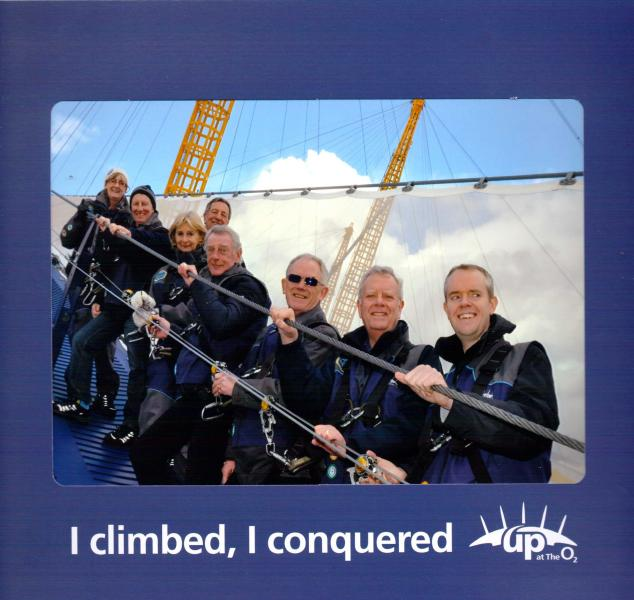 Rotary Climb The O2 as we celebrate Rotary's 111th Birthday - The O2 Climb Team
