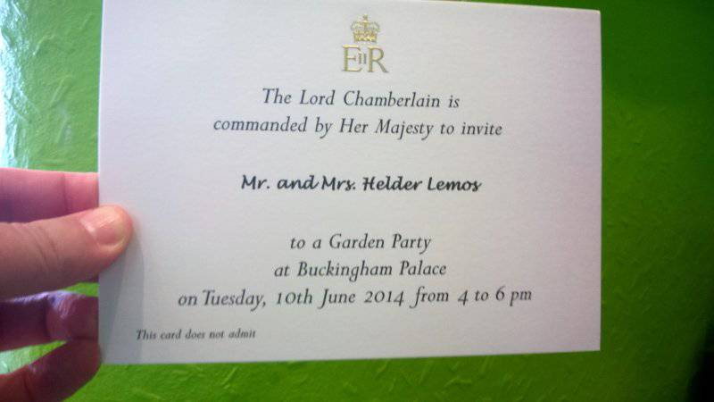 President at Buckingham Palace - Invitation