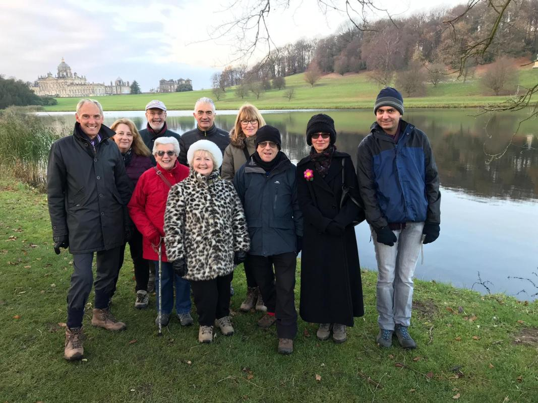 Castle Howard Christmas - The intrepid travellers at Castle Howard