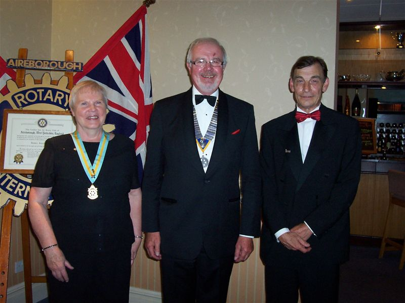 56th Charter Dinner - President Philip with Assistant Governor Anita and Tim Wyatt, broadcaster and presenter