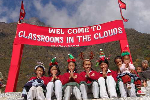 Classrooms in the clouds in Nepal is one of the many international good causes we support...