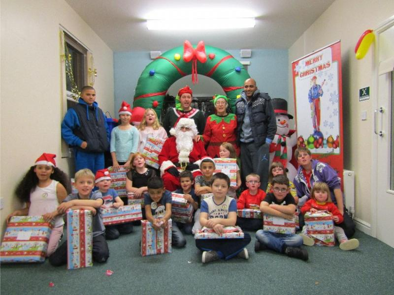 Christmas party for local children -