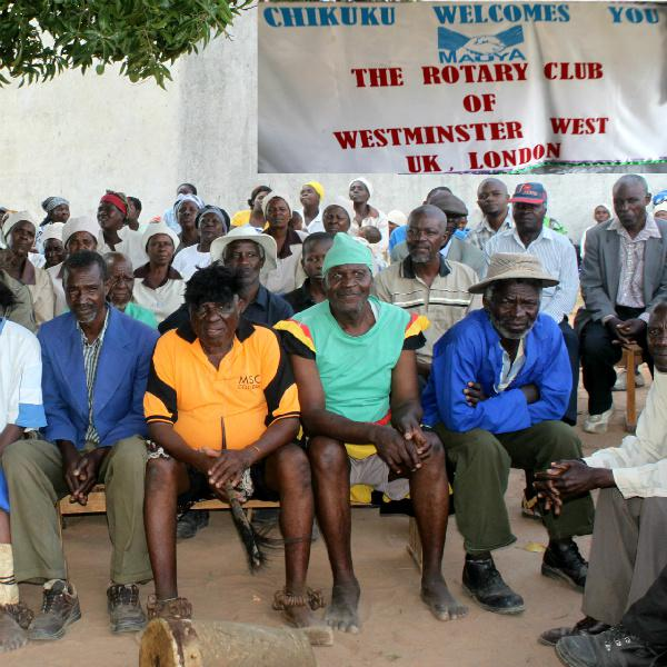 Westminster West Rotarians visited the Centre in Zimbabwe