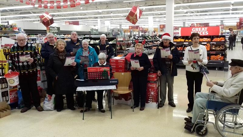 Christmas Events 2018 - Our choir singing carols at Sainsburys to raise money for local charities.