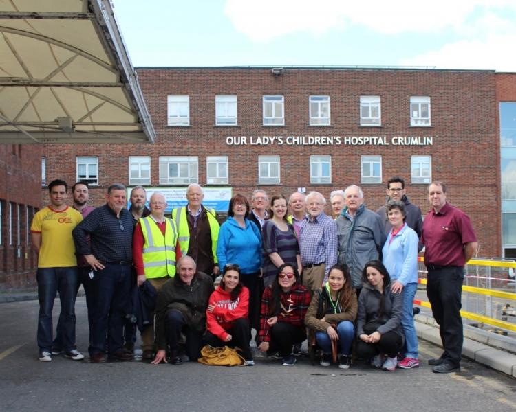 Be A Gift To Crumlin Hospital - Rotary volunteers who cleared out rooms in the Parents Accommodation to make ready for renovations.