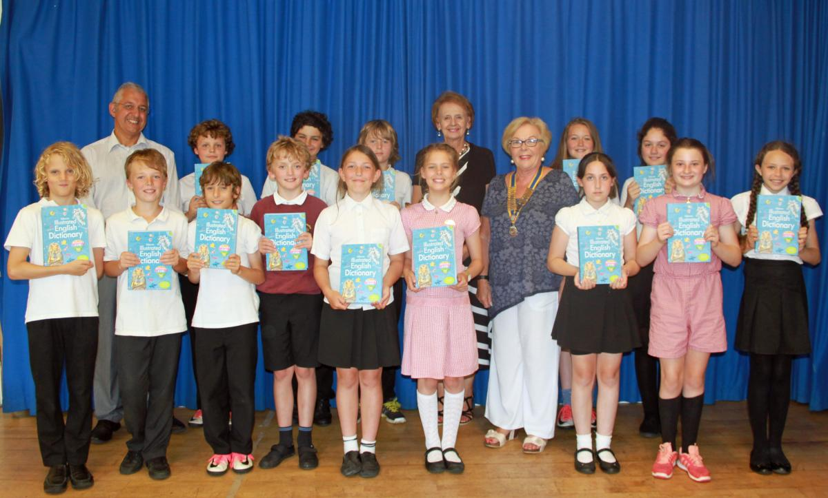 Recently Joan Symons, President of St Ives Rotary Club, attended a school assembly at Nancledra Academy where she was delighted to meet the Year 6 Pupils and present each of them with a copy of the  Dictionary 4 Life.