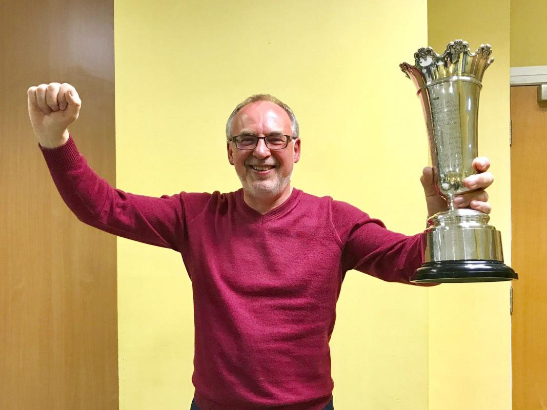 It wasn't all formalities.  David Johnson still had time to share his success at the recent Rotary golf tournament!