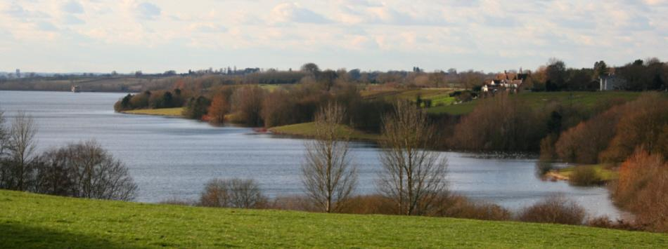 A view of Draycote Water.