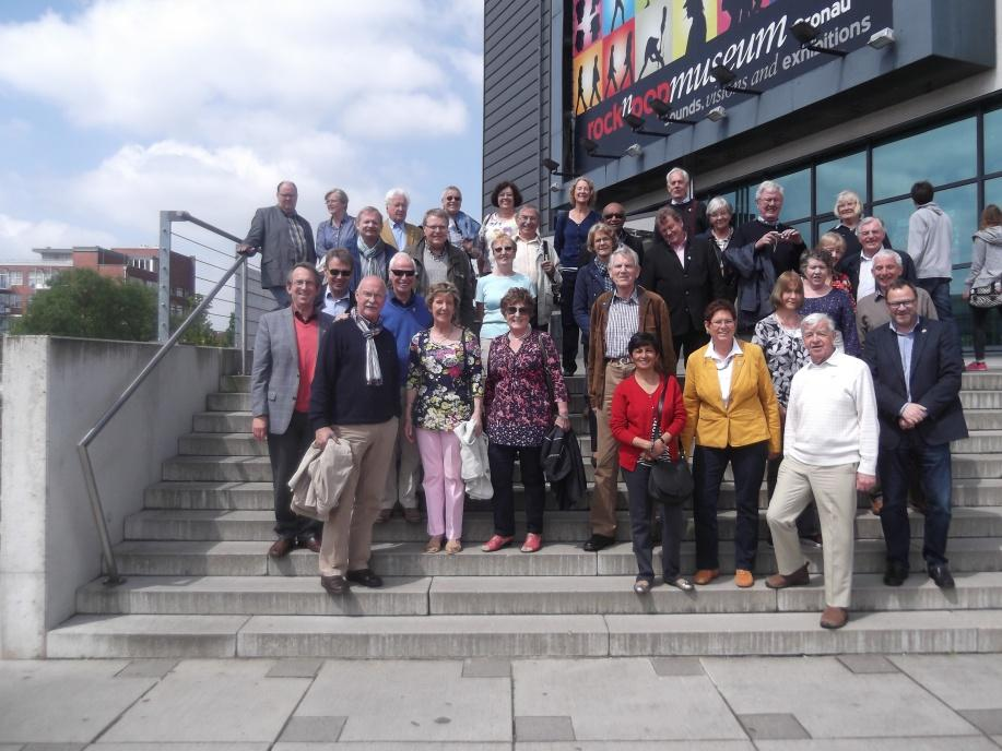 Us and Meppem members outside the Pop Music Museum, nr Meppen