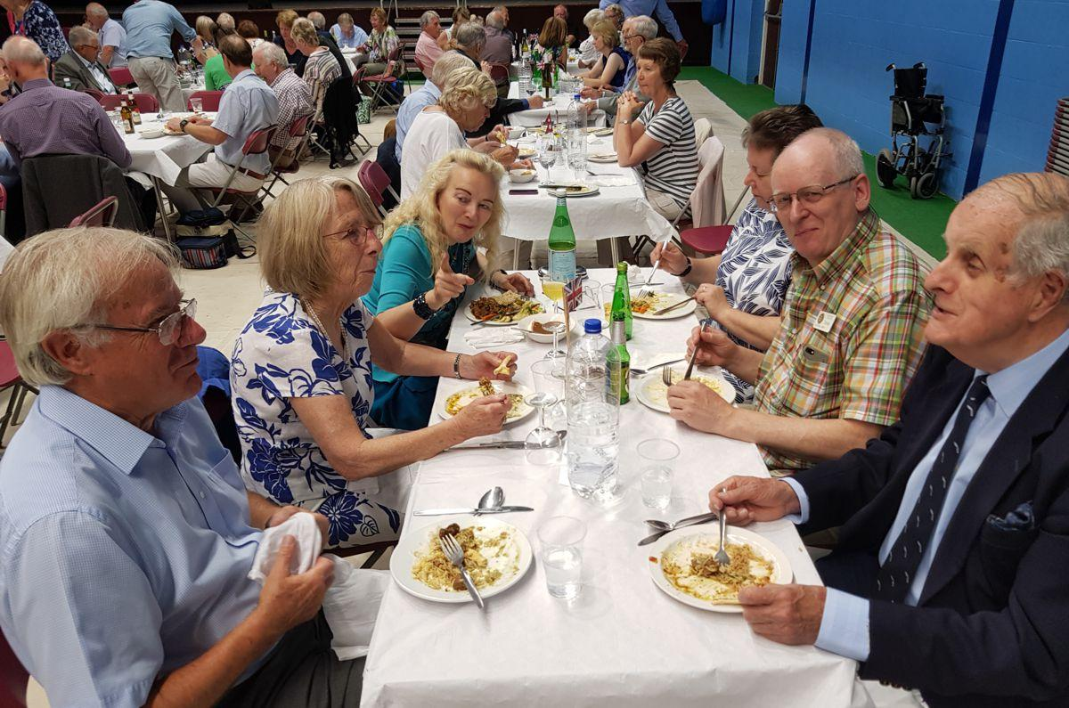 Gurkha Lunch Sunday 30th June 2019 - Eccleshall Guests at the Gurkha Meal