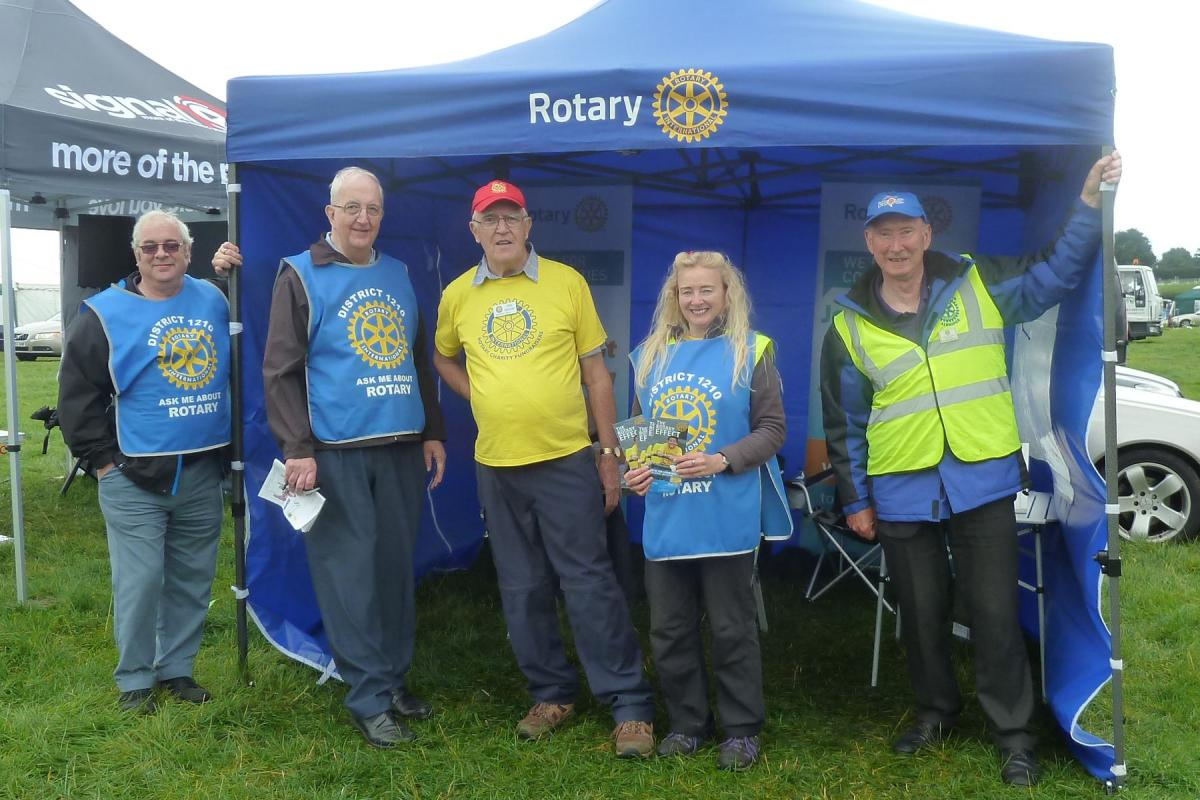 The Rotary Stand a the show, on a wet and windy day we almost ounumbered the visitors
