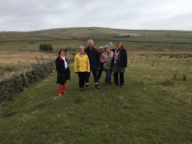 Fellowship Weekend - A walk on the wild side! L to R: Mary Wylie, June and Robin Richmond, Neil Dodgson, Judith Evans, Graham Evans and Elaine Dodson enjoying the wilds of Lancashire