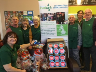 Members of Narberth & Whitland Rotary Club and Narberth Foodbank are pictured at the pre-Christmas visit and presentation