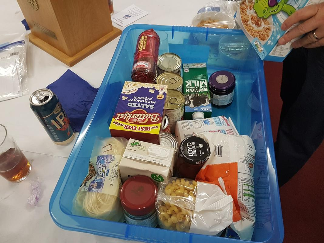 Guest Speakers: Rod & Alison Doulton, Chatteris Foodbank. - food parcel