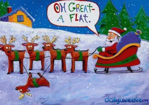 FATHER CHRISTMAS HAS A FLAT