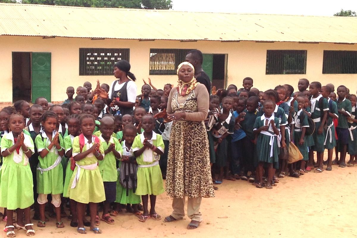 Supporting a school in The Gambia