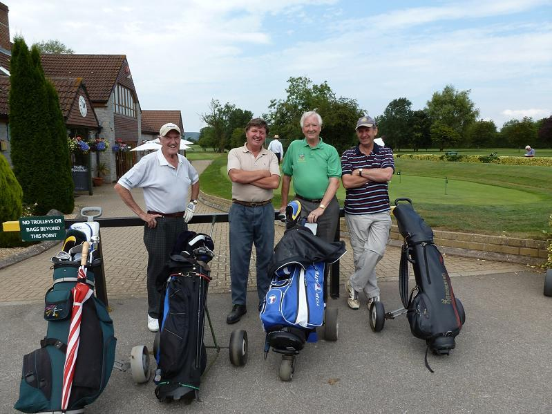 Having Fun - Members prepare for a round of golf