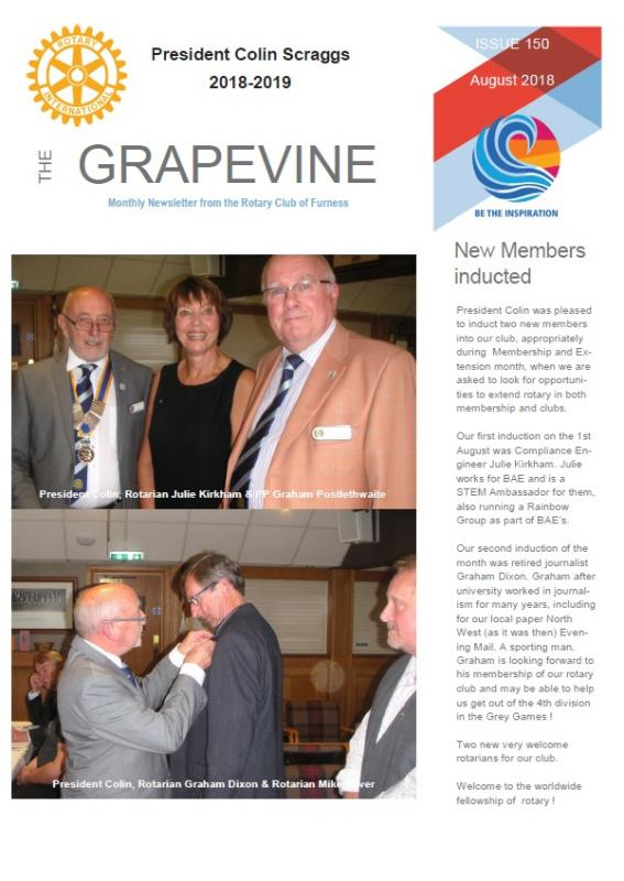 Front page of Grapevine August 2018