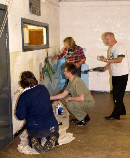 Community Project - Painting the Scout Hut - Painting the Scout Hut