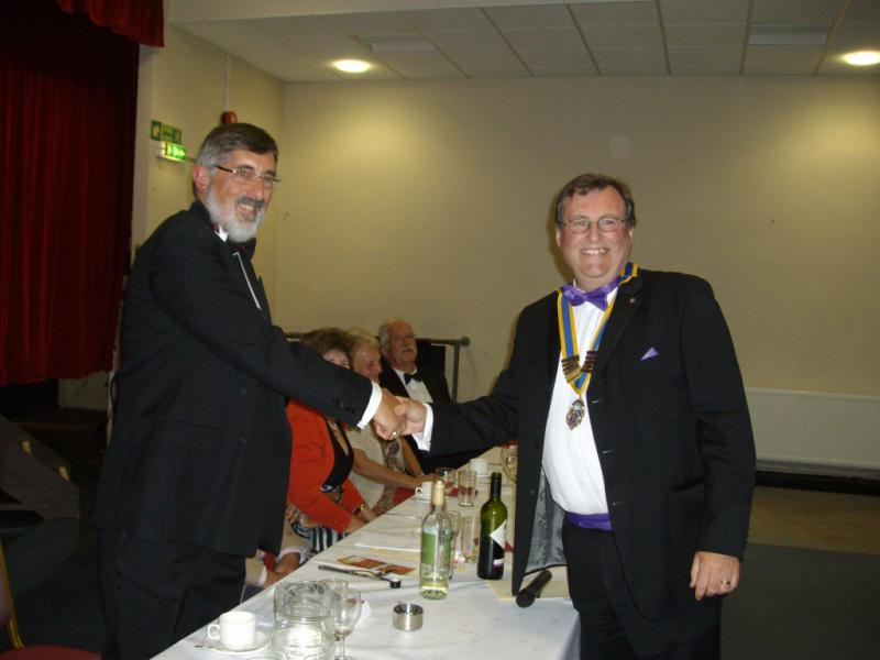 Presidents night and Handover 2014 - Terry Bazeley handover to Steve Fivash