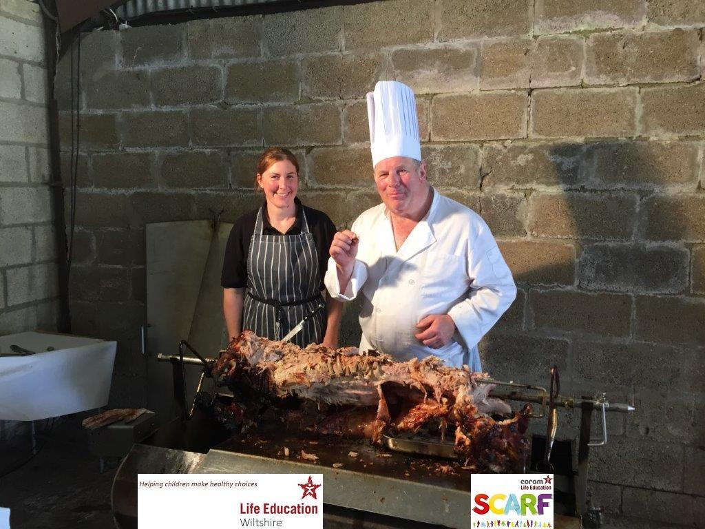 Annual Rotary pig roast supporting Life Education Wiltshire - Annual Rotary pig roast at Lower Hook Farm - 11th August