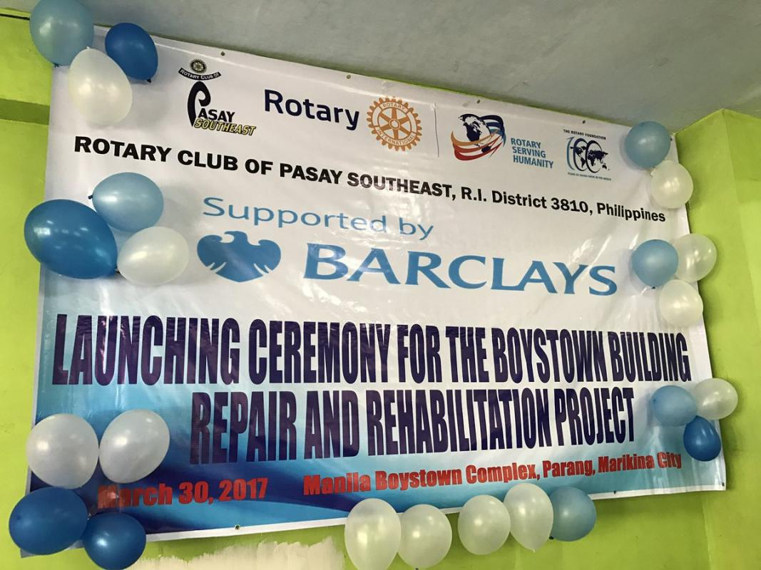 Partnering with Barclays, RETRAK & local Rotarians to refurb a Phillipines orphanage
