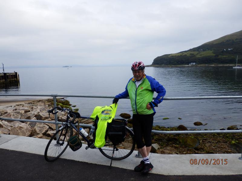 5 Ferries Cycle Run - Ralph and bicycle.