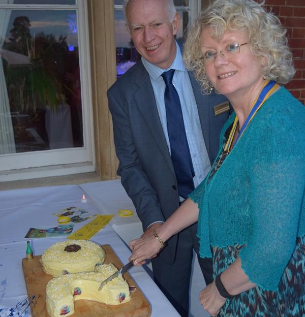 20th Anniversary Celebration & Presidential Handover in pictures - The Club met to celebrate its 20th Anniversary as well as the formal Presidential handover from Martin Spooner to Geraldine Durrant.