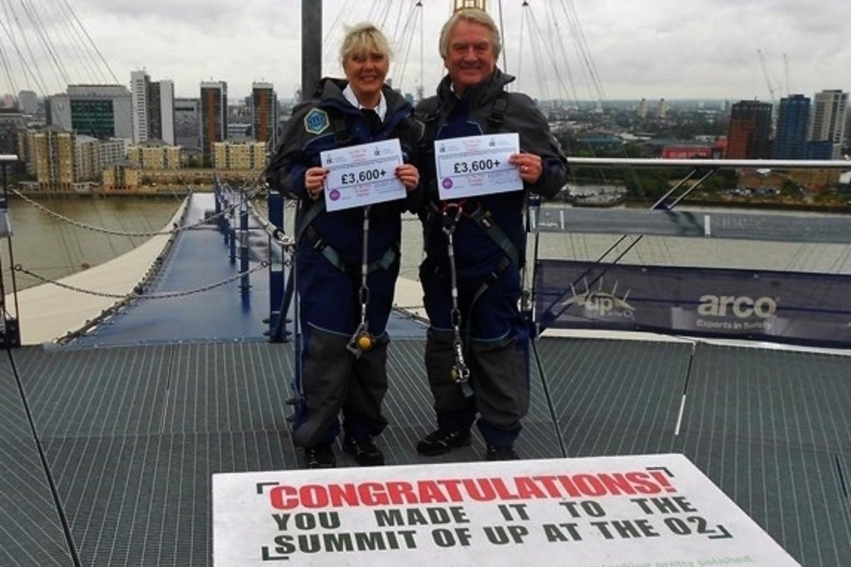Climbing the O2, Mike and Christine Bannister