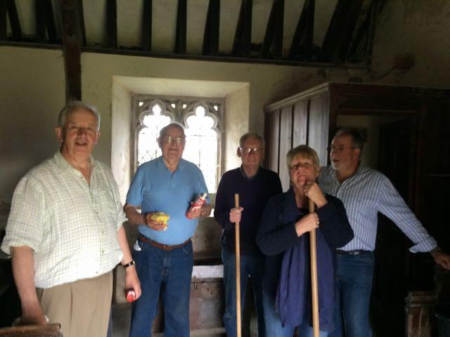 Church Cleaning at Llanfair yn Neubwll on 23rd July 2015 -