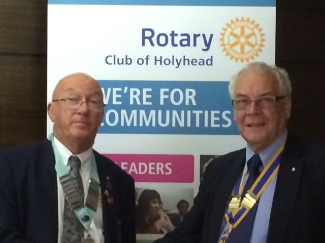 DG visits Holyhead Rotary Club 3rd August 2015 -