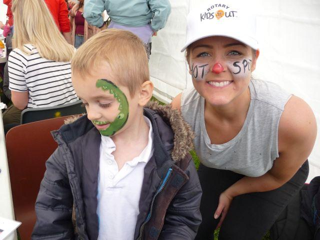 Kids Out 2016 - One of the many happy faces in the face painting tent