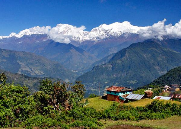 View of the Lamjung area of Nepal