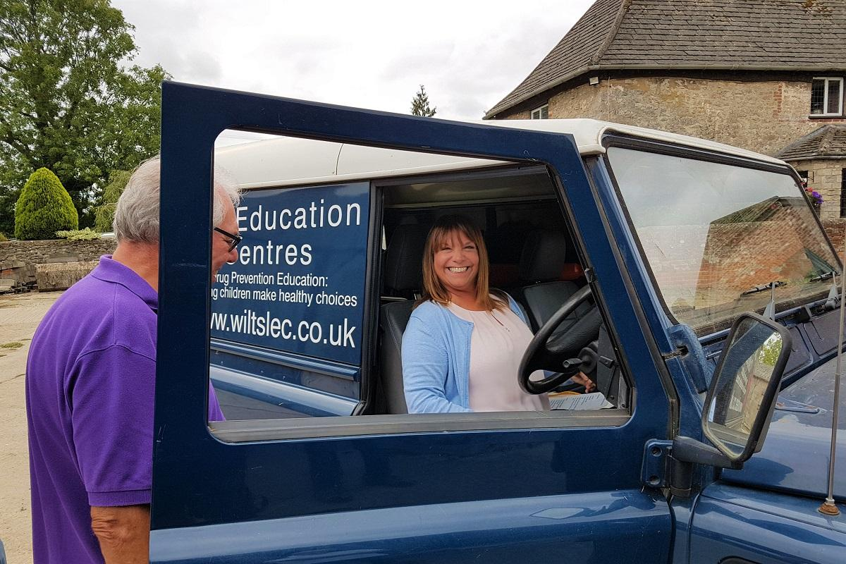 Life Education - Autumn manoeuvring training - Catherine tries the wheel