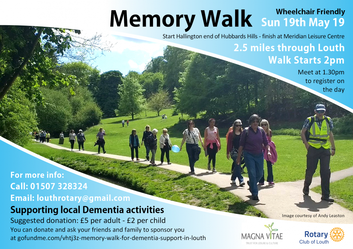 Memory Walk for local Dementia support - Rotary District
