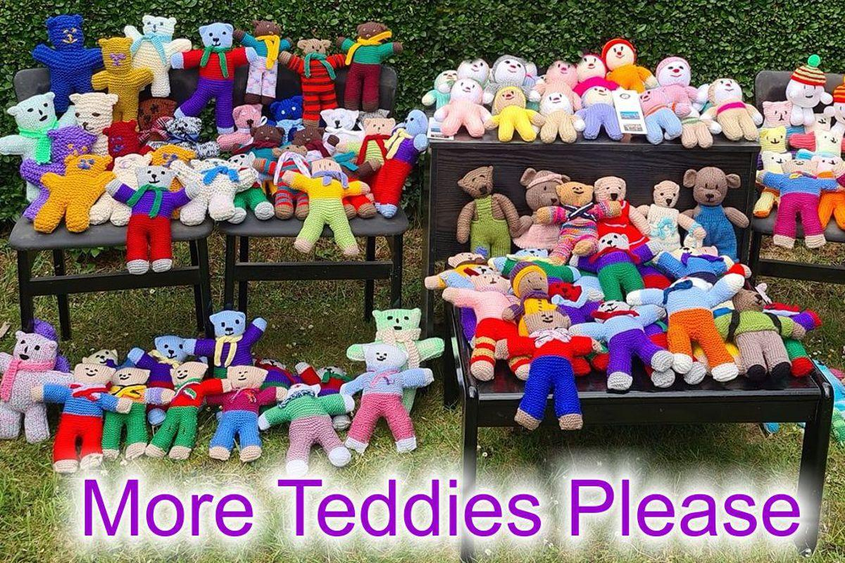 Teddy Bears for Buddy Bags Charity - Teddies made fro the Buddy Bags appeal