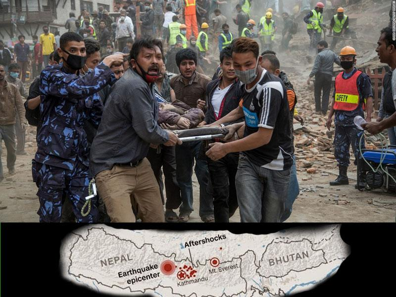Earthquake in Nepal - Rotary in action