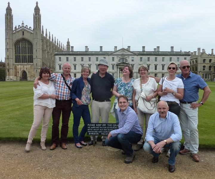 Jun 2015 International Visit from Enschede Nord Club, Holland - Our friends from Holland - Marjo,& Hans, Corrie & Henk, Saron, Harriet, Harmien, Rob with Steve and Gerard in front.
