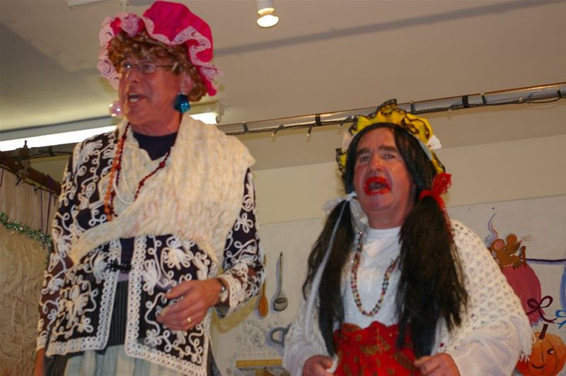 Christmas Party and CindeRota  Panto - Were there ever two more 'Ugly Sisters' ?