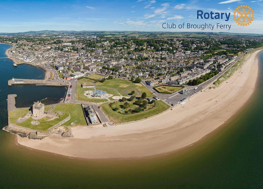 Panoramic view of Broughty Ferry